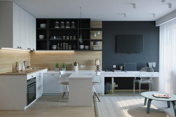 design kvartiry studii 25 kv m 1 - Дизайн интерьера квартиры 25 кв м