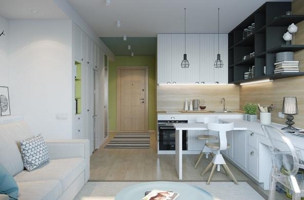 design kvartiry studii 25 kv m 2 - Дизайн интерьера квартиры 25 кв м