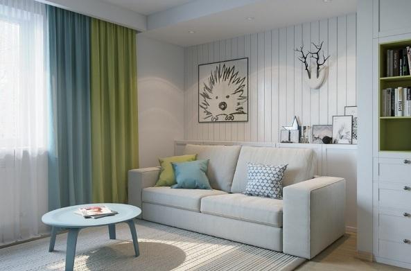 design kvartiry studii 25 kv m 3 - Дизайн интерьера квартиры 25 кв м