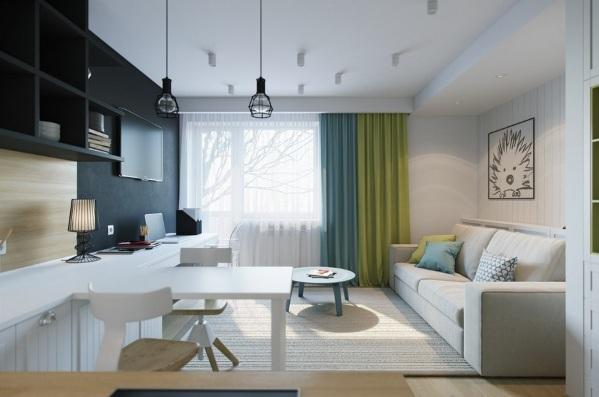 design kvartiry studii 25 kv m 4 - Дизайн интерьера квартиры 25 кв м