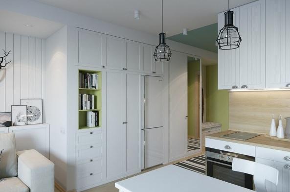 design kvartiry studii 25 kv m 5 - Дизайн интерьера квартиры 25 кв м