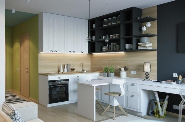 design kvartiry studii 25 kv m 6 - Дизайн интерьера квартиры 25 кв м