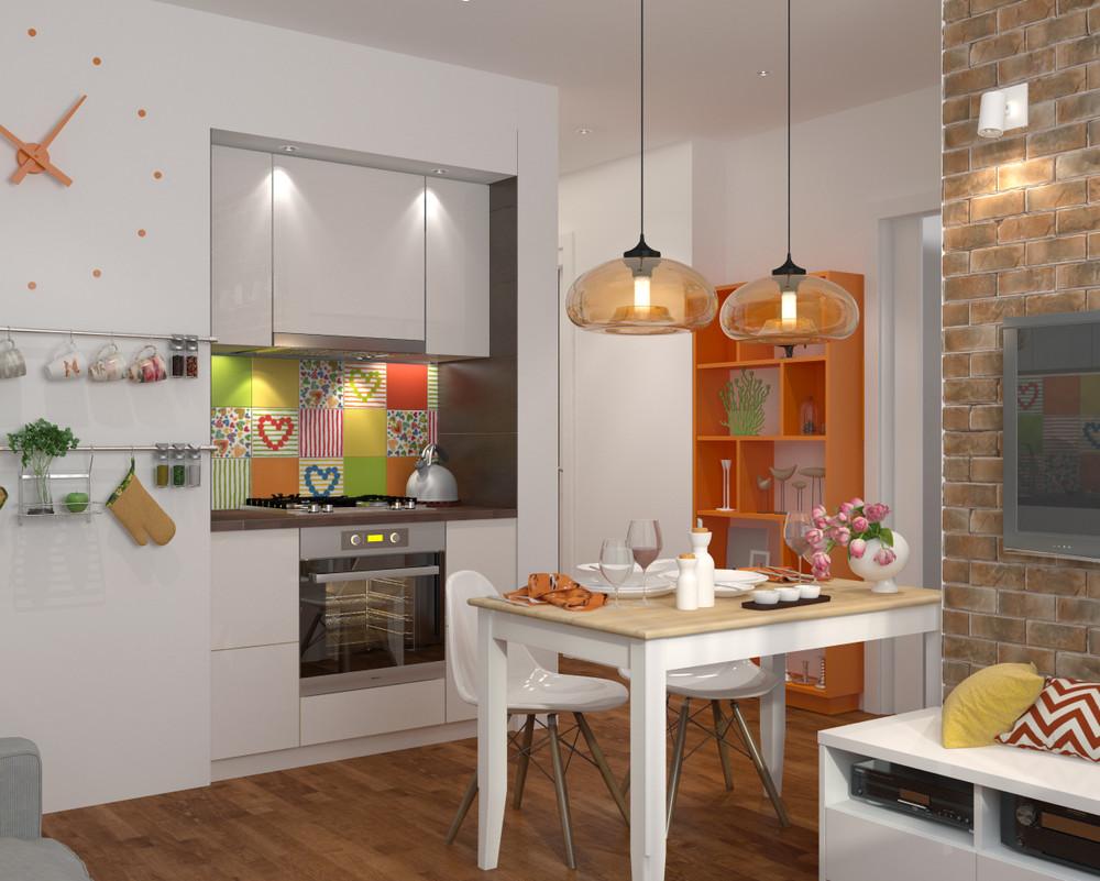 dizayn kvartiry 50 m2 1 - Дизайн интерьера квартиры 50 кв м