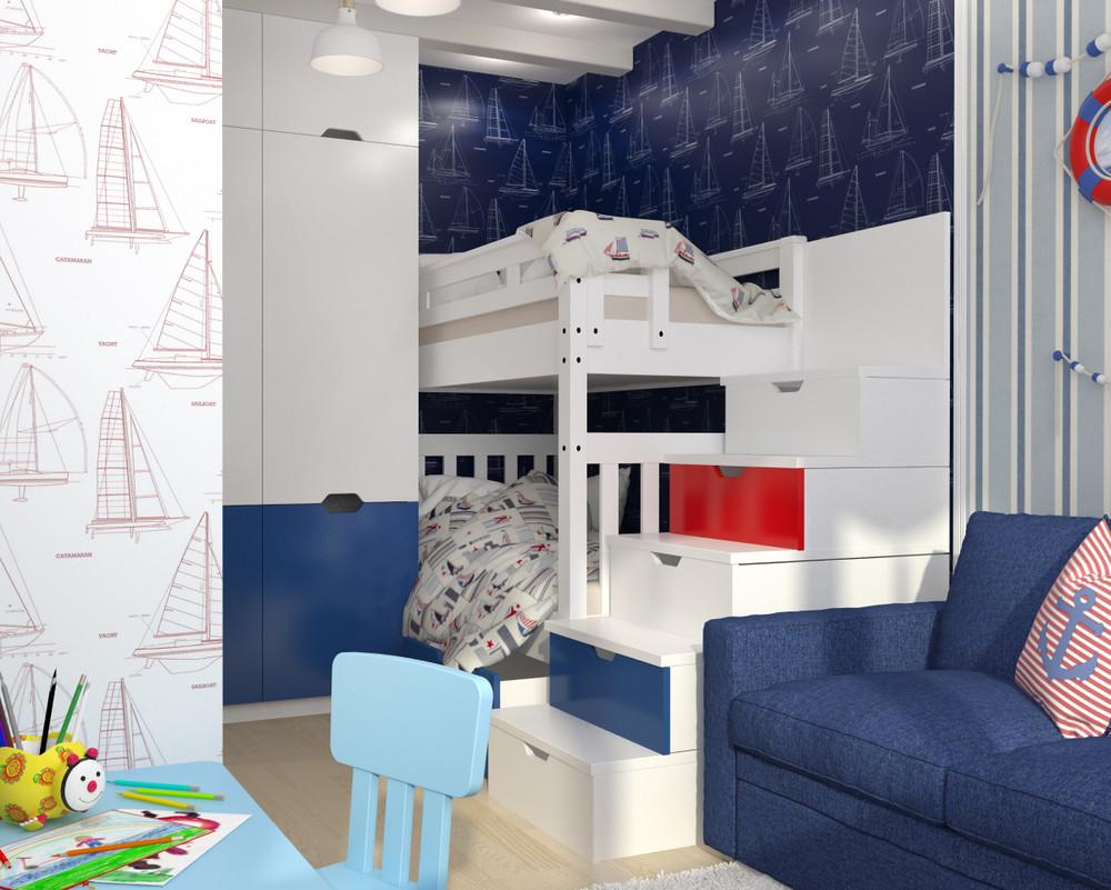 dizayn kvartiry 50 m2 6 - Дизайн интерьера квартиры 50 кв м