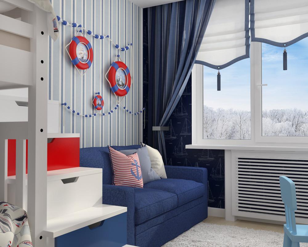 dizayn kvartiry 50 m2 7 - Дизайн интерьера квартиры 50 кв м