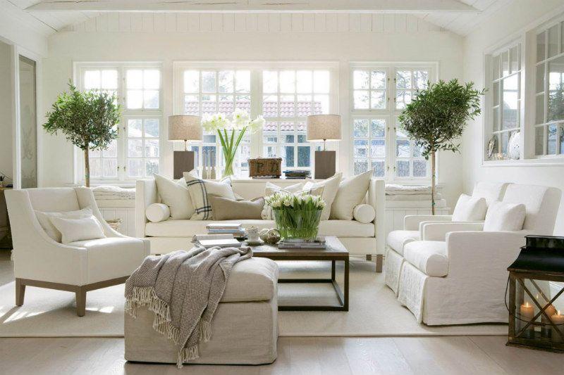 gostinnaya4 - Американский дизайн интерьера квартиры
