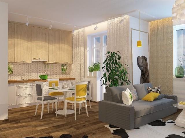 kv2 3 - Дизайн интерьера квартиры 50 кв м