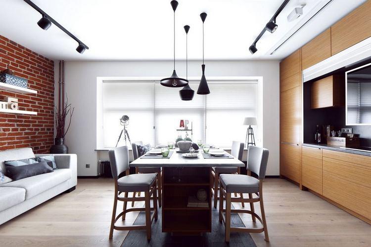 loft - Дизайн интерьера квартиры 33 кв. м.