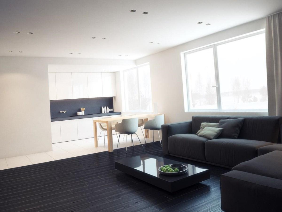 minimalizm 1 - Дизайн интерьера квартиры 25 кв м