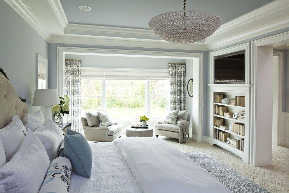 potolok - Американский дизайн интерьера квартиры