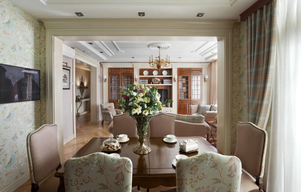 textil 1024x654 - Американский дизайн интерьера квартиры