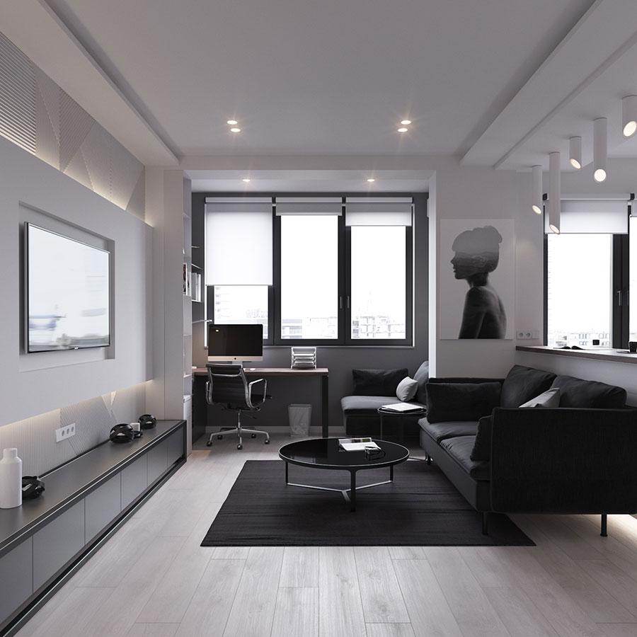 22 - Дизайн интерьера 1-2 комнатной квартиры 45 кв м