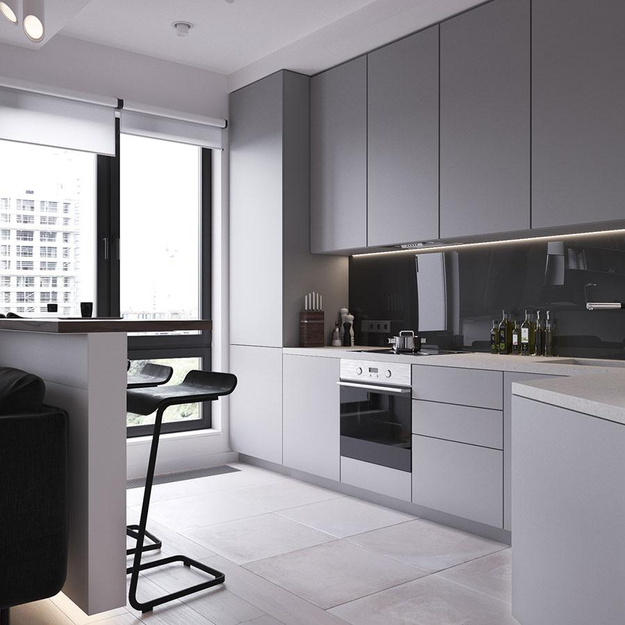 23 1 - Дизайн интерьера 1-2 комнатной квартиры 45 кв м
