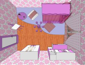 24105736 300x229 - Варианты дизайна интерьера детской комнаты для девочек
