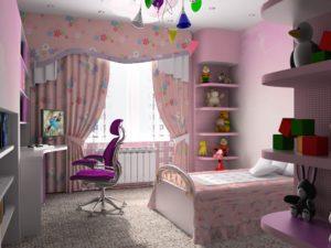 d1d68b4d6962d36b59efdbdd4c7fa4d8 300x225 - Варианты дизайна интерьера детской комнаты для девочек