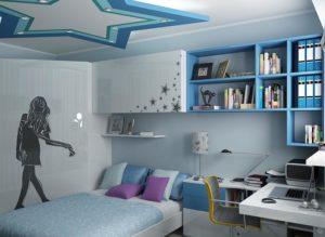 detskaya dlya podrostka devochki 300x219 - Варианты дизайна интерьера детской комнаты для девочек
