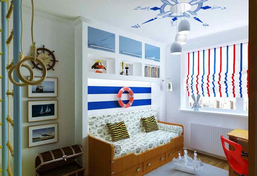 detskaya2 - Дизайн интерьера квартиры 100 кв м