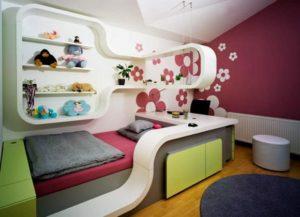 detskaya komnata dlya devochki 12 let dizayn  2 300x217 - Варианты дизайна интерьера детской комнаты для девочек