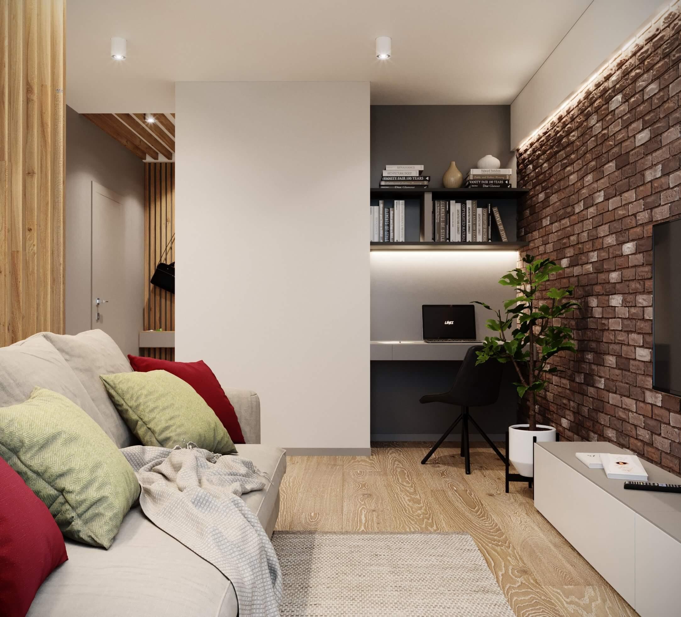 fo - Дизайн интерьера 1-2 комнатной квартиры 45 кв м