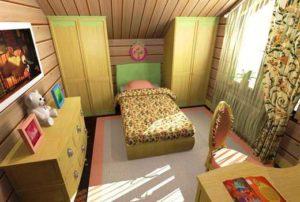 interer gostinoj v derevyannom dome foto 75 300x202 - Варианты дизайна интерьера детской комнаты для девочек