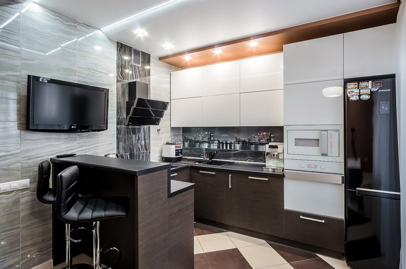 ku5 - Современный дизайн маленькой кухни
