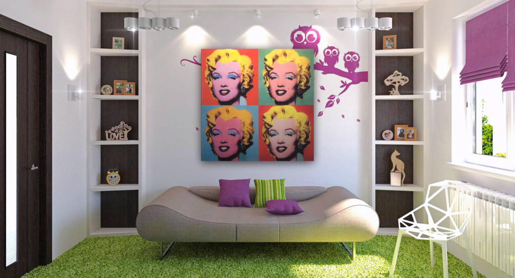 modern interior with pop art apartment ideas living room simple kitchen architecture office design oriental carpet 1024x554 - Китч и поп-арт - ищем отличия