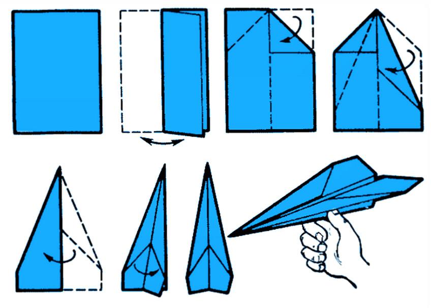 Kak sdelat samolet iz bumagi 1 - Как сделать оригами - схемы и советы