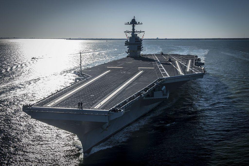 1200px Bow view of USS Gerald R. Ford CVN 78 underway on 8 April 2017 1024x682 - История появления и развития водного транспорта