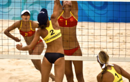 China vs. Austria in Beach Volleyball   Summer Olympics Beijing 2008 260x165 - История волейбола