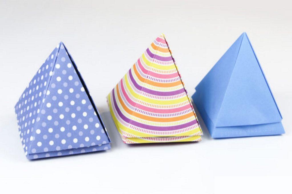 piramid box 1024x683 - Как сделать подарочную коробочку своими руками